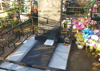 эксклюзивный памятник с благоустройством могилы