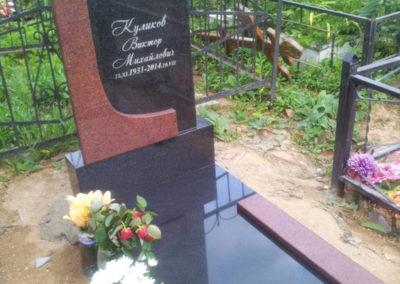 комбинированный памятник с надгробной плитой