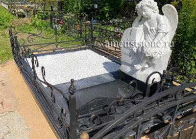 Памятник ангел, благоустройство гранитом